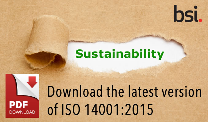 Download the latest version od ISO 14001:2015